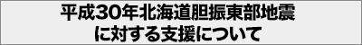 平成30年北海道胆振東部地震に対する支援について