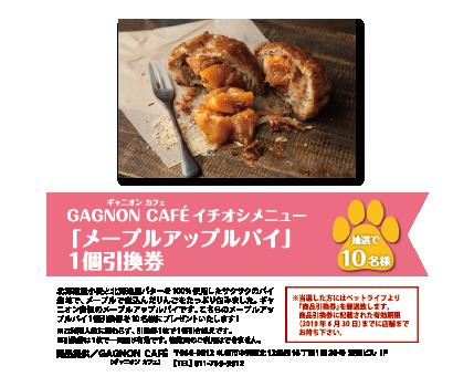 GAGNON CAFÉ「メープルアップルパイ」1個引換券