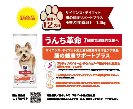 サイエンス・ダイエット 腸の健康サポートプラス 小型犬用1歳以上 1.3㎏  抽選12名様